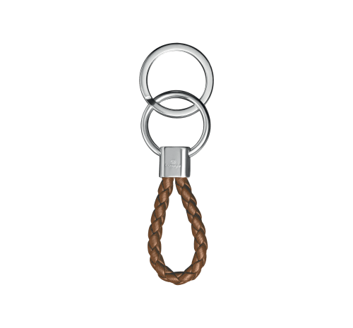 DUO COMPLICE Rhodium Silver-Plated Red Key Chain