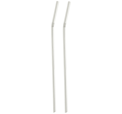 Uni Silver-Plated Straws, Set of 2