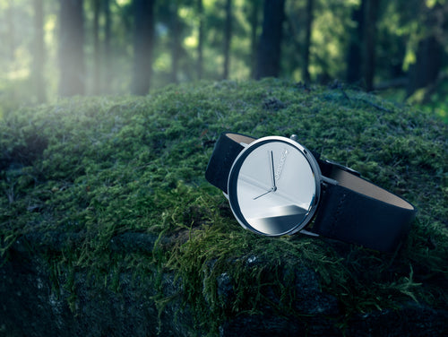 O-Time Watch -  Natural Band White Dial  by Lena Bergström