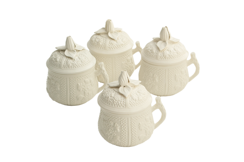 POT DE CRÈME AND SAUCERS SET OF 4 ( Pot de Creme also sold separately)