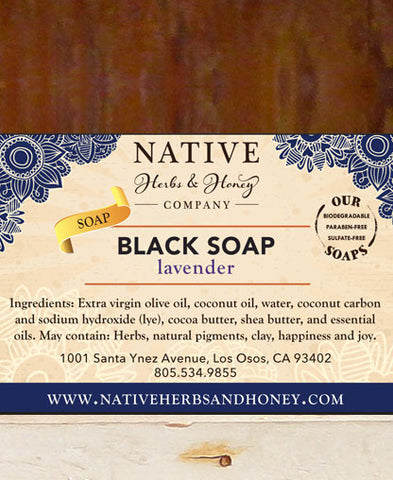 Lavender Black Soap