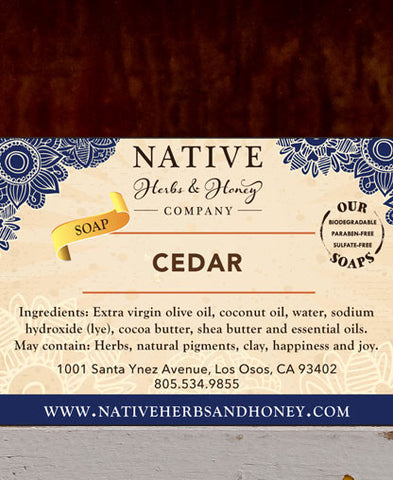 Cedar Naturally Scented Soap