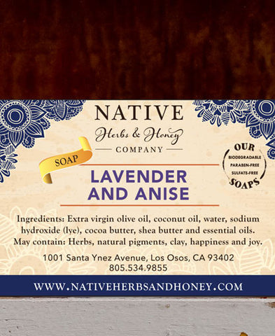 Lavender and Anise Naturally Scented Soap