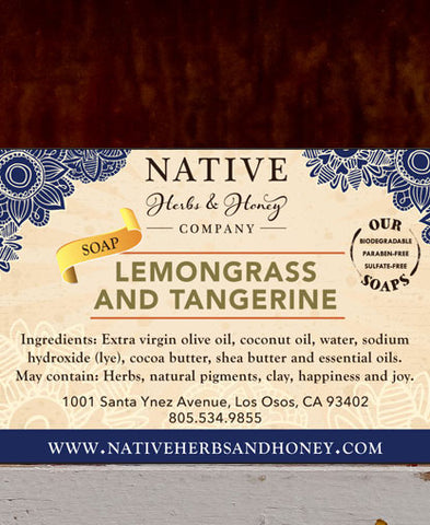 Lemongrass and Tangerine Naturally Scented Soap