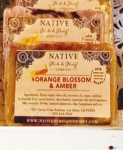 Orange Blossom and Amber Perfumed Soap