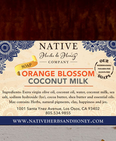 Orange Blossom, Sea Salt and Coconut Milk Naturally Scented Soap