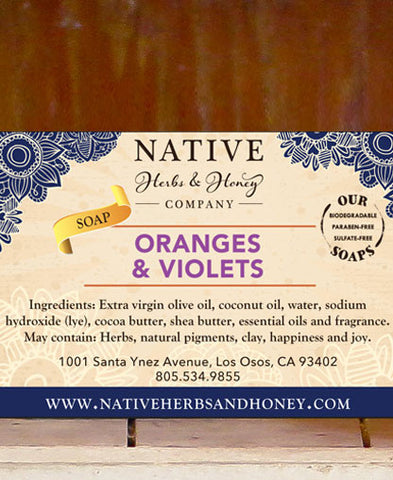 Oranges and Violets Perfumed Soap
