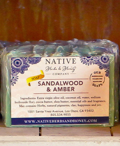 Sandalwood and Amber Perfumed Soap