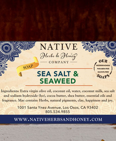 Sea Salt and Seaweed Naturally Scented Soap