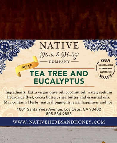 Tea Tree and Eucalyptus Naturally Scented Soap