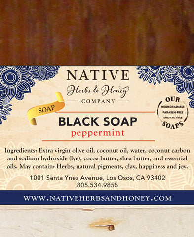 Peppermint Black Soap