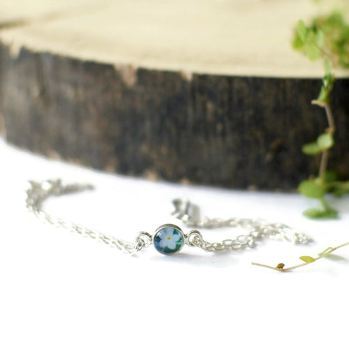 Forget me not flower bracelet