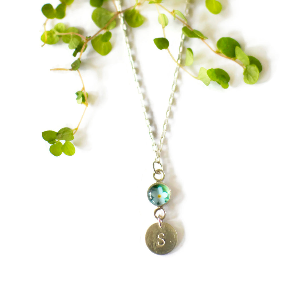 Personalised Forget Me Not Necklace