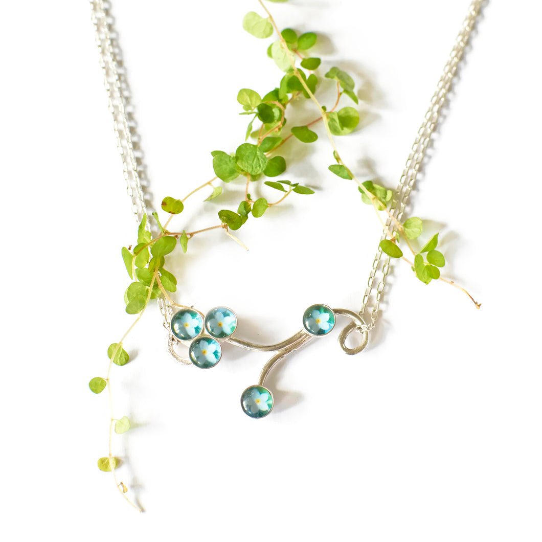 Forget Me Nots Branch Necklace