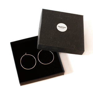 Large Simple Hoop Earrings