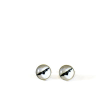 Load image into Gallery viewer, Bat stud earrings sterling silver
