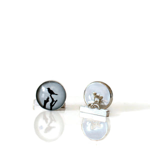Sterling Silver Bird Cufflinks