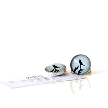 Load image into Gallery viewer, Bird Cufflinks, handcrafted sterling silver