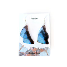 Load image into Gallery viewer, Blue Morpho Butterfly Statement Earrings