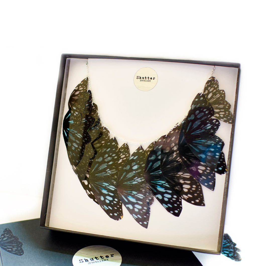 Ceylon Tiger Butterfly Statement Necklace