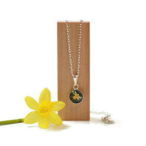 Sterling Silver Daffodil Pendant Necklace