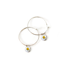 Load image into Gallery viewer, Daisy Hoop Earrings