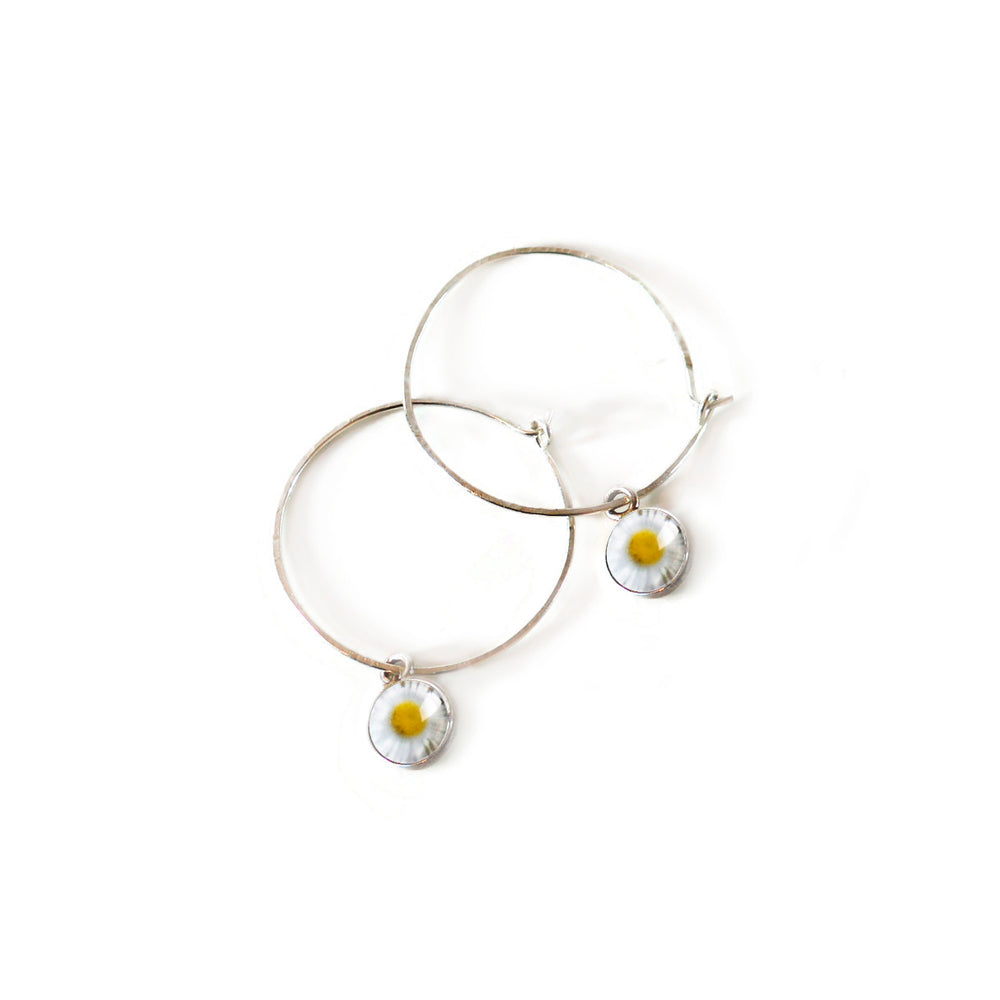 Daisy Hoop Earrings