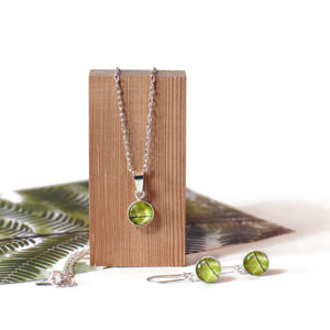 fern drop earring and pendant gift set