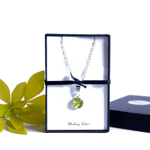 Gift boxed fern necklace