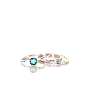 Forget Me Not Silver Ring