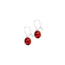 Load image into Gallery viewer, Ladybird Drop Earrings