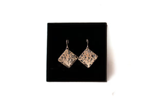 Oak Tree Drop Earrings