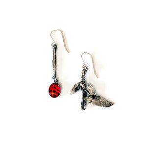 Ladybird Mismatch Earrings