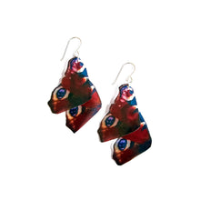Load image into Gallery viewer, Peacock Butterfly Statement Earrings