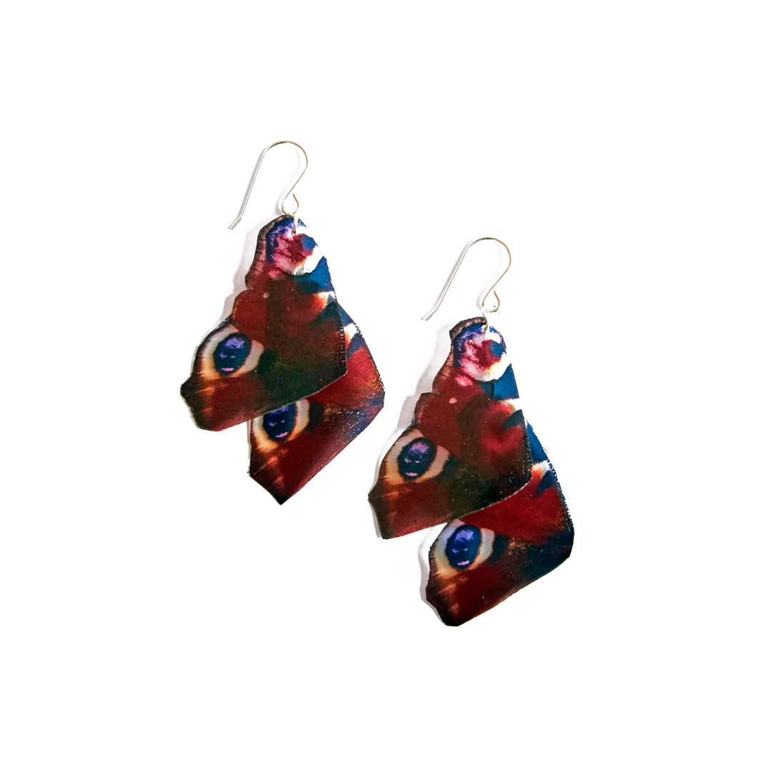 Peacock Butterfly Statement Earrings
