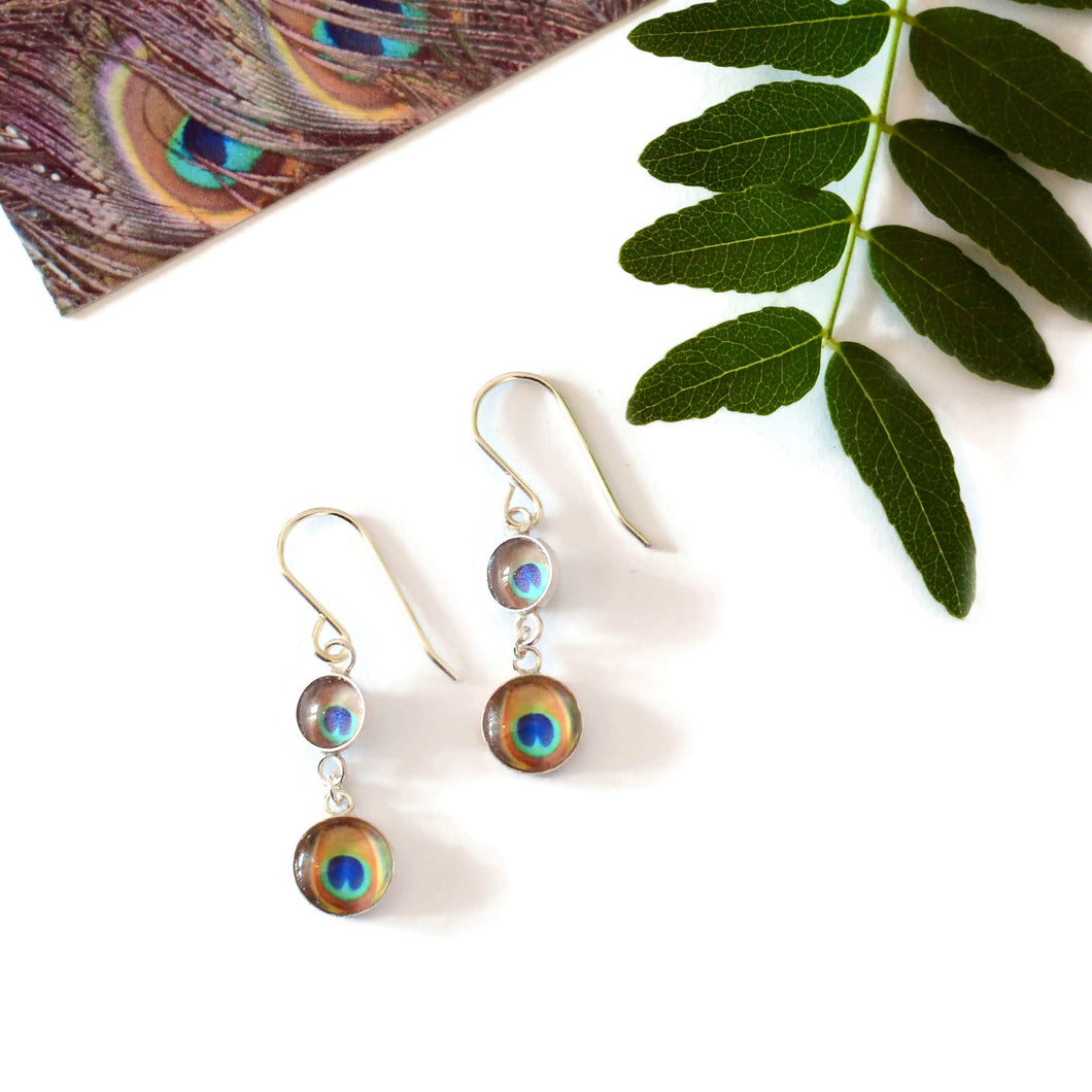 Peacock 'Double Eye' Earrings