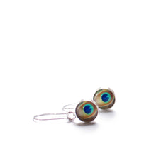 Load image into Gallery viewer, Peacock Drop Earrings