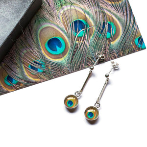 Peacock French Drop Earrings