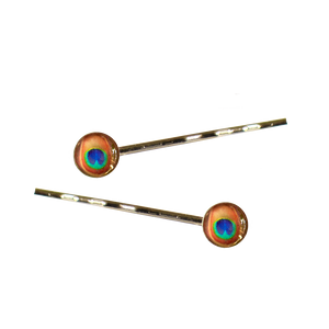 Peacock Hair Pins