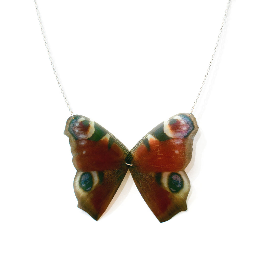Peacock Butterfly Statement Necklace