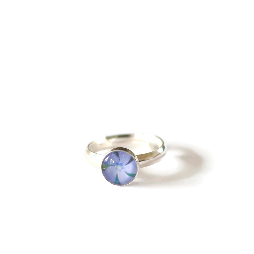 Periwinkle Adjustable Ring
