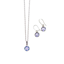 Load image into Gallery viewer, Periwinkle Necklace and Drop Earrings Gift Set
