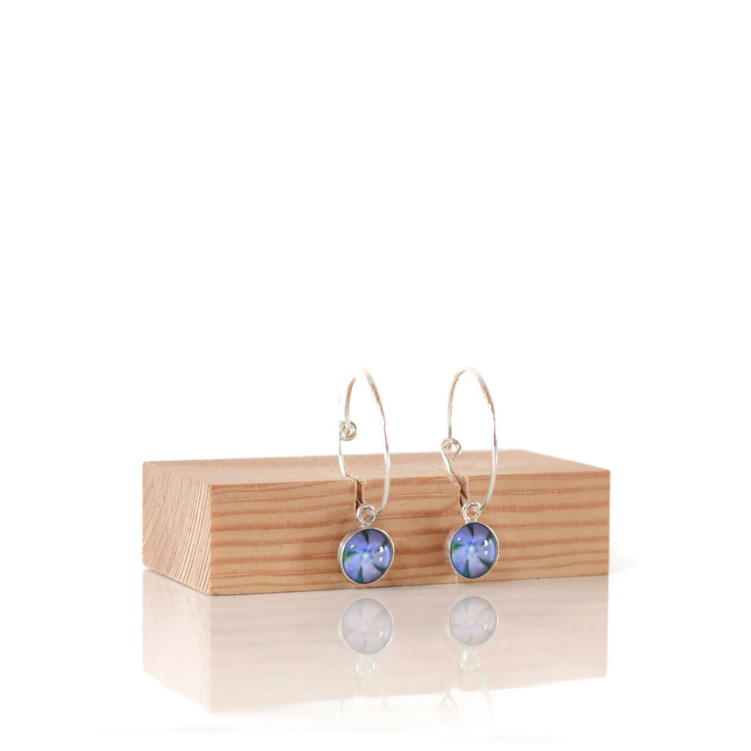 Periwinkle Hoop Earrings