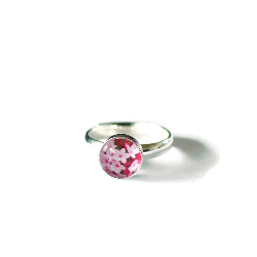 Pink Daphne Adjustable Ring
