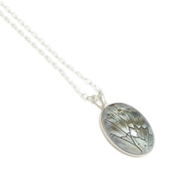 Load image into Gallery viewer, Prepona Oval Butterfly Necklace