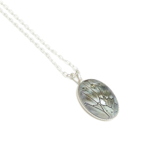 Prepona Oval Butterfly Necklace
