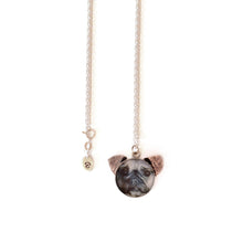 Load image into Gallery viewer, Pug Dog 'Ears' Necklace