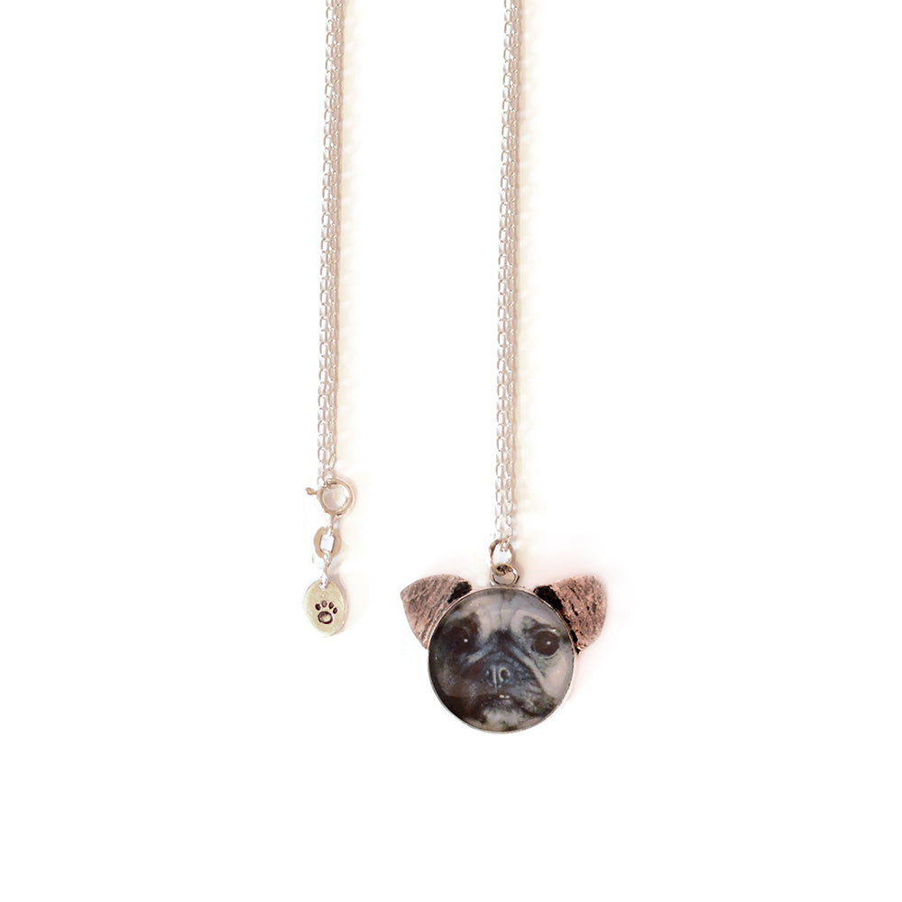 Pug Dog 'Ears' Necklace
