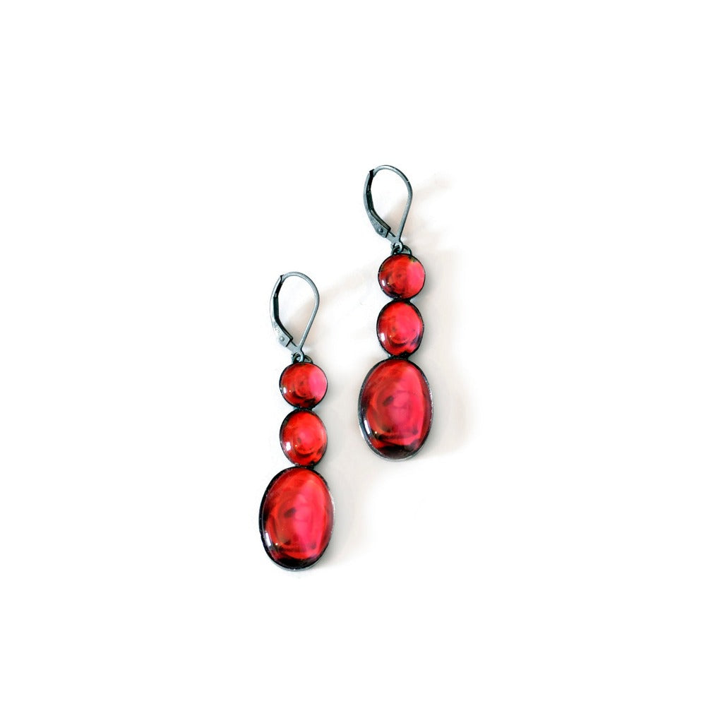 Red Rose Statement Earrings - Limited Edition