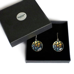Gift boxed sterling silver reeves drop earrings